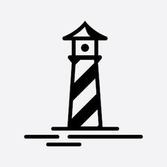 Szablon wektor logo light house