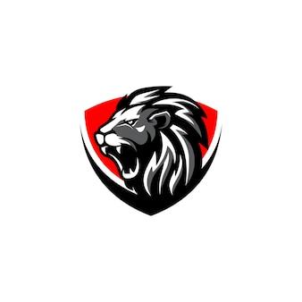 Szablon wektor logo lwa