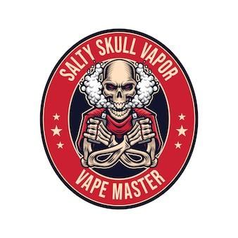 Szablon wektor logo maskotki czaszki esport