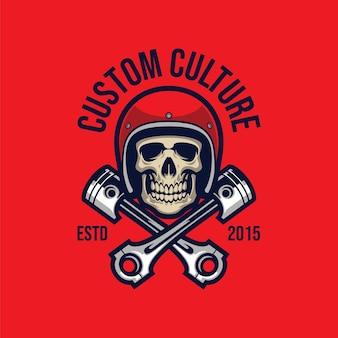Szablon wektor logo maskotki naprawy czaszki esport
