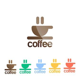 Szablon wektor logo pianka filiżanka kawy.