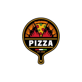 Szablon wektor logo projektu pizzy