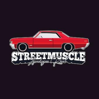 Szablon wektor logo samochodu mięśni