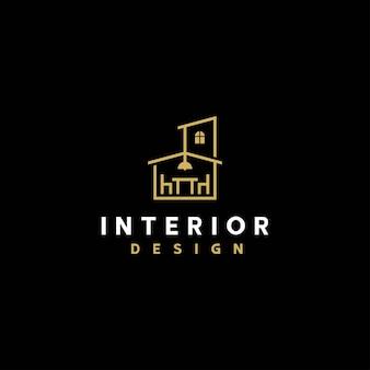 Szablon wektor projektu logo wnętrza