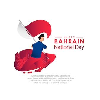 Szablon wektor święto narodowe bahrajnu. zaprojektuj ilustrację do banerów, reklam, kart okolicznościowych lub druku.