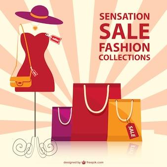 Szablon wektora moda na zakupy