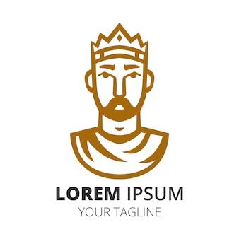 Szablon wektora projektu logo króla