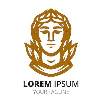 Szablon wektora projektu logo maskotki króla