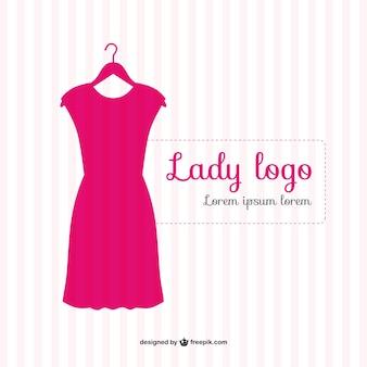 Szablon wektora różowa sukienka