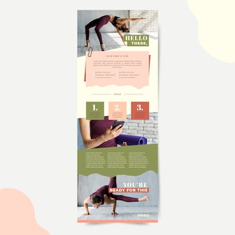 Szablon wiadomości e-mail do komunikacji fitness