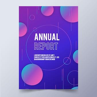 Szablon wielobarwny streszczenie rocznego sprawozdania