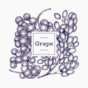 Szablon winogron.