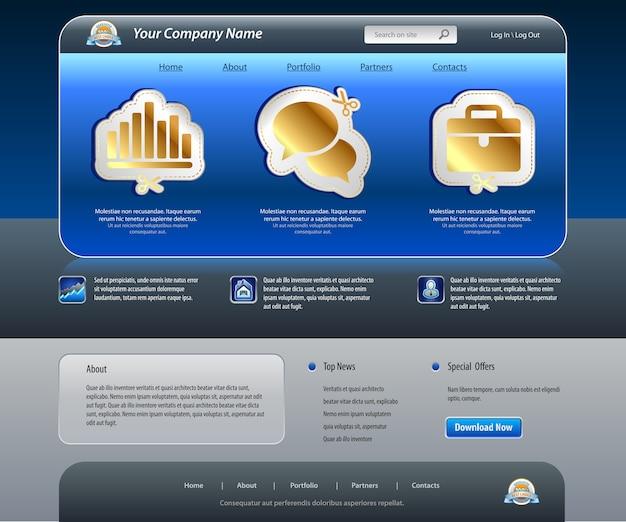 Szablon Witryny Sieci Web Firmy Premium Wektorów