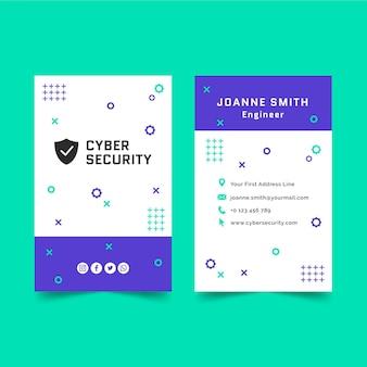 Szablon wizytówki cyberbezpieczeństwa