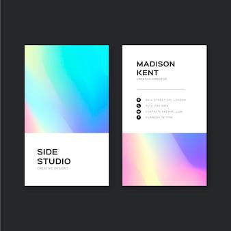 Szablon wizytówki kolorowy gradient