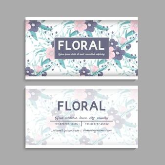 Szablon wizytówki, kwiatowy wzór tła