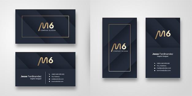 Szablon wizytówki nowoczesny ciemny kształt