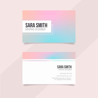 Szablon wizytówki pastelowe gradientu