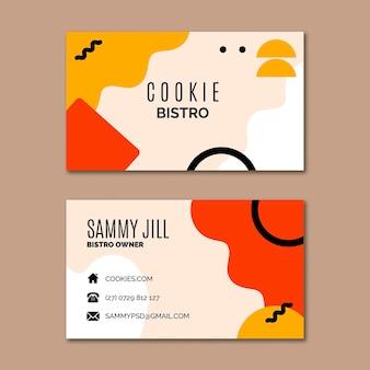 Szablon wizytówki pliki cookie
