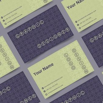 Szablon wizytówki śmieszne projektant graficzny