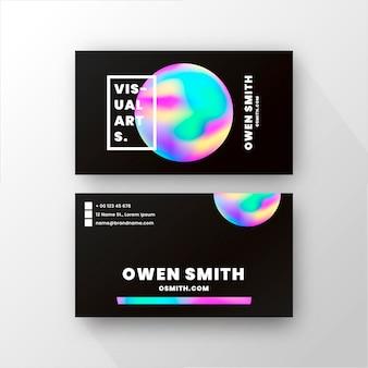 Szablon wizytówki w kolorach gradientu