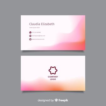 Szablon wizytówki z abstrakcyjnych kształtów gradientu