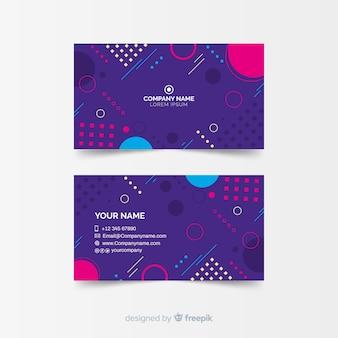 Szablon wizytówki z abstrakcyjnych kształtów z abstrakcyjnych kształtów