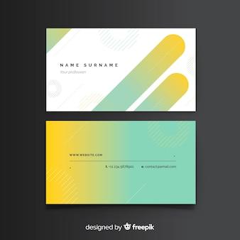 Szablon wizytówki z abstrakcyjnych kształtów