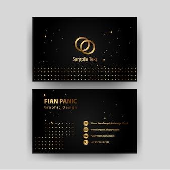 Szablon wizytówki ze złotym wzorem kreatywny elegancki