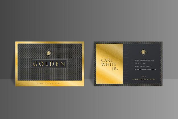 Szablon wizytówki złotej folii