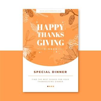 Szablon wpisu na blogu na święto dziękczynienia