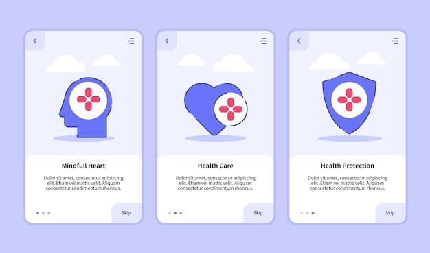 Szablon wprowadzający do projektowania aplikacji mobilnych z interfejsem mindful health