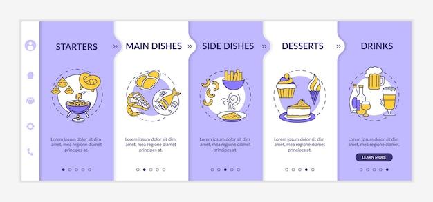 Szablon wprowadzający menu restauracji