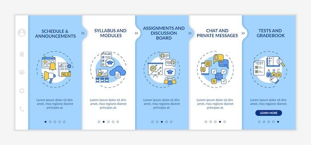 Szablon wprowadzenia elementów systemu zarządzania kursami online