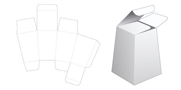 Szablon wycinane pudełko na prezent w kształcie obelisku