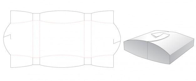 Szablon wycinany pudełko w kształcie poduszki