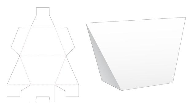 Szablon wycinany w kształcie trapezu w kształcie trójkąta
