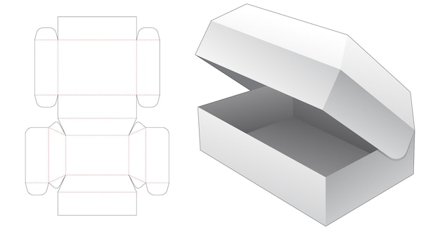 Szablon wycinany w pudełku z klapką w klatce piersiowej