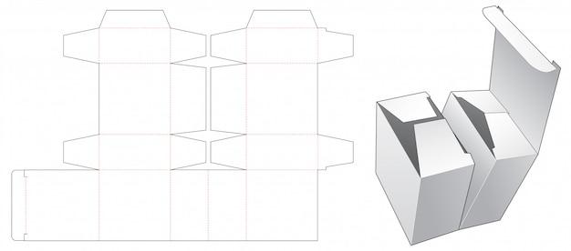 Szablon wycinany z podwójnym pudełkiem