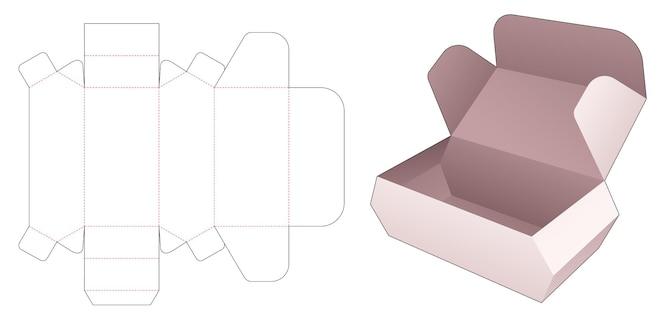 Szablon wycinany ze sfazowanym pudełkiem na żywność