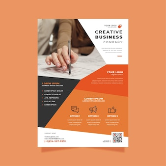 Szablon wydruku plakatu kreatywnego biznesu