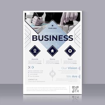 Szablon wydruku plakatu międzynarodowego biznesu