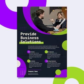 Szablon wydruku plakatu rozwiązań biznesowych