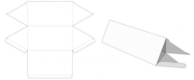Szablon wykrojony w pudełko w kształcie trójkąta