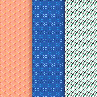 Szablon wzór fale i linie