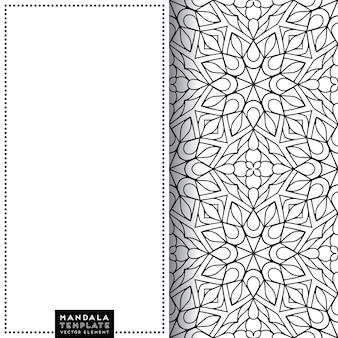 Szablon wzór ozdobnych mandali