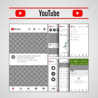 Szablon youtube ux