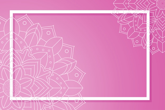 Szablon z banerami mandali