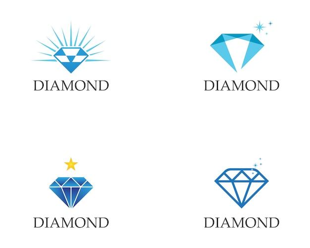 Szablon z logo diamentu