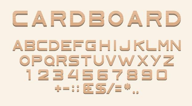 Szablon z tektury alfabetu